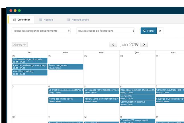 logiciel CRM fonctionnalité calendrier